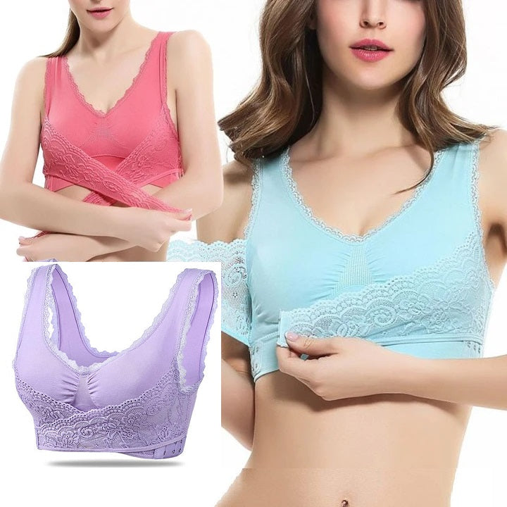 AIRY Full-Figure Plus-Size Seamless Wirefree Lift Support Bra, All Size Available in 8 colors