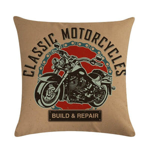 Cuesta Pillow Cover | Motorcycle | Gift for Him | Throw Pillow | 18 x 18 Pillow | Home Decor | Boyfriend Gift