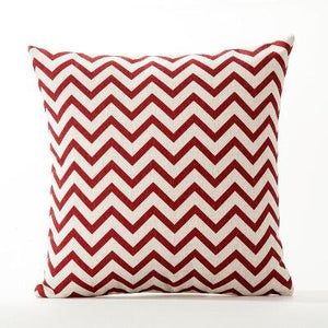 RED Geometric Pillow Cover | Red Modern Pattern | Gift for Him | Throw Pillow | 18 x 18 Pillow | Home Decor | Boyfriend Gift