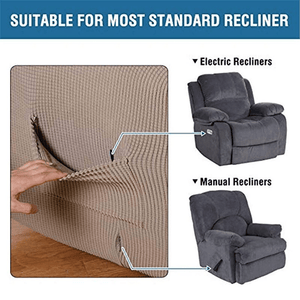 IB Stretchable Elastic RECLINER Slipcovers,  All-Season Sofa Recliner Covers Moisture And Stain-Resistant, Pet Friendly Sofa Cover