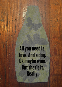 All You Need is Love - Wine Bottle Insulator