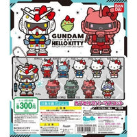 Gundam x Hello Kitty Rubber Mascot Key Chain