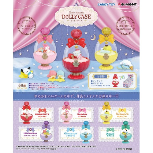 Sanrio Characters Dolly Case Re-Ment Collectible 3-Inch Figure