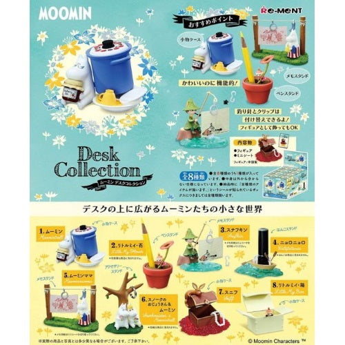 Moomin Desk Collection 3-Inch Rement Collectible Mini-Figure