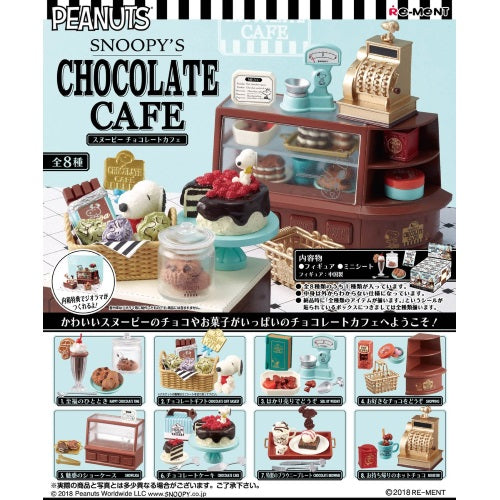 Peanuts Snoopy's Chocolate Cafe Rement Miniature Doll Furniture