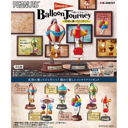 Peanuts Snoopy Balloon Journey 3-Inch Rement Collectible Figure