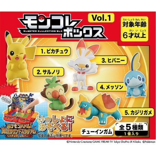 Pokemon Sword And Shield Moncolle Vol. 1 Takara Tomy 2-Inch Mini-Figure