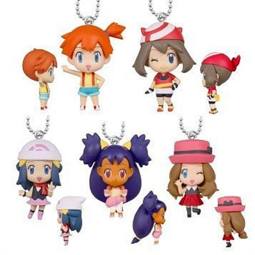 Pokemon Girls Deformed Figure Series Mascot 1-Inch Mini-Figure Key Chain