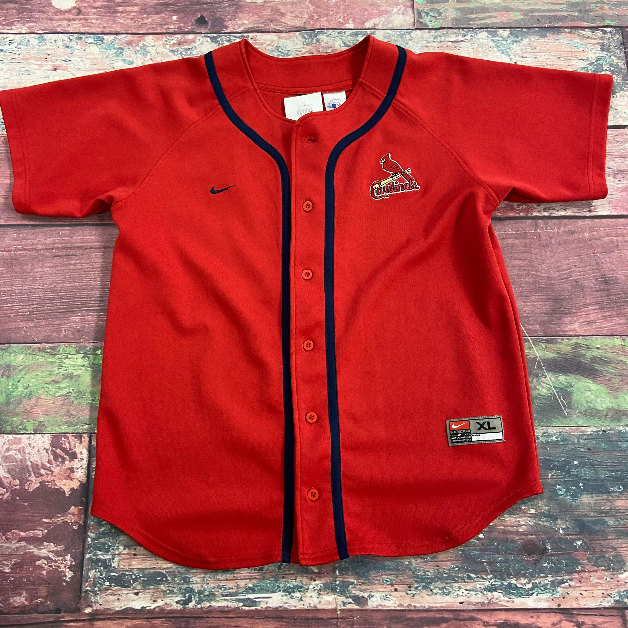 Nike St Louis Cardinals MLB Pujols 5 Jersey Youth Boys Size XL