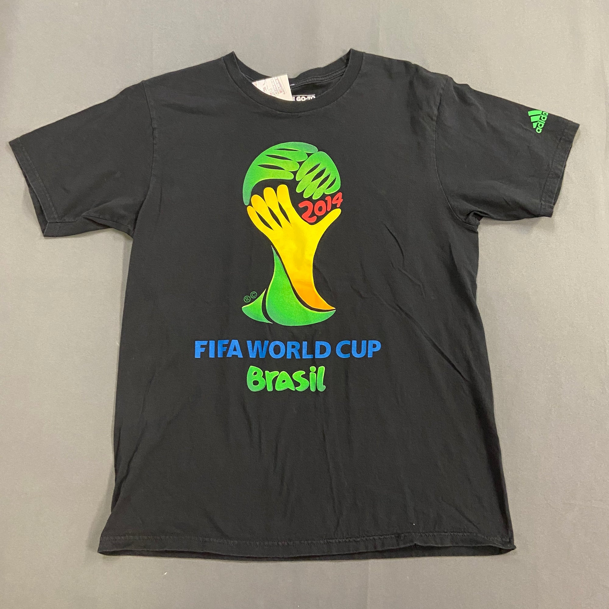 Adidas FIFA World Cup Brazil Black T Shirt Size Large