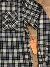 True Religion Men Flannel Long Sleeve Size 3XL Fits Like 2 XL