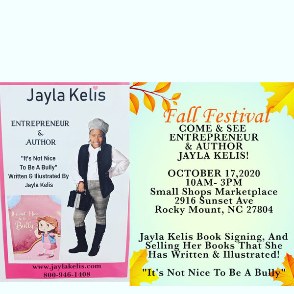 COME TO JAYLA KELIS BOOK SIGNING OCTOBER 17, 2020!!👀
