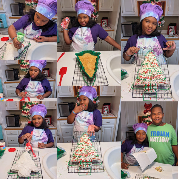 JAYLA KELIS BAKED A CHRISTMAS TREE CAKE ON HER SHOW!🎄
