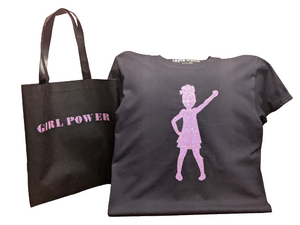 Girl Power T-Shirt With Matching Tote Bag💜