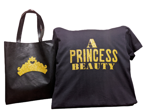A Princess Beauty👸 T-Shirt With Matching Tote Bag