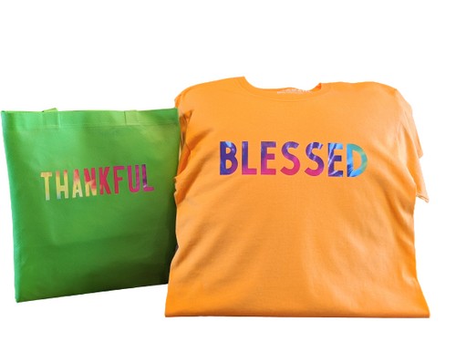 Blessed🙏🏼 T-Shirt With Matching Tote Bag