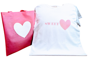 Sweet💖 T-Shirt With Matching Tote Bag
