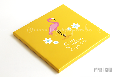 Canvas flamingo