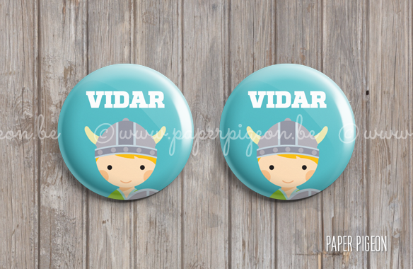 Button 'viking' - 37 mm