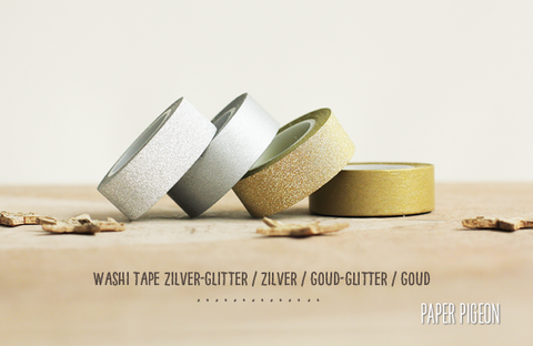 Washi tape 'zilver'