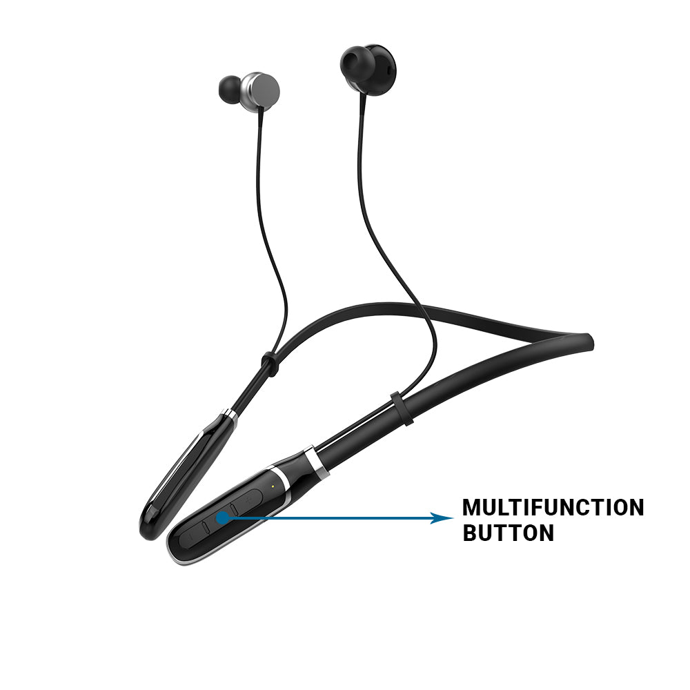 Ergonomically Designed Neckband with Single Button Control