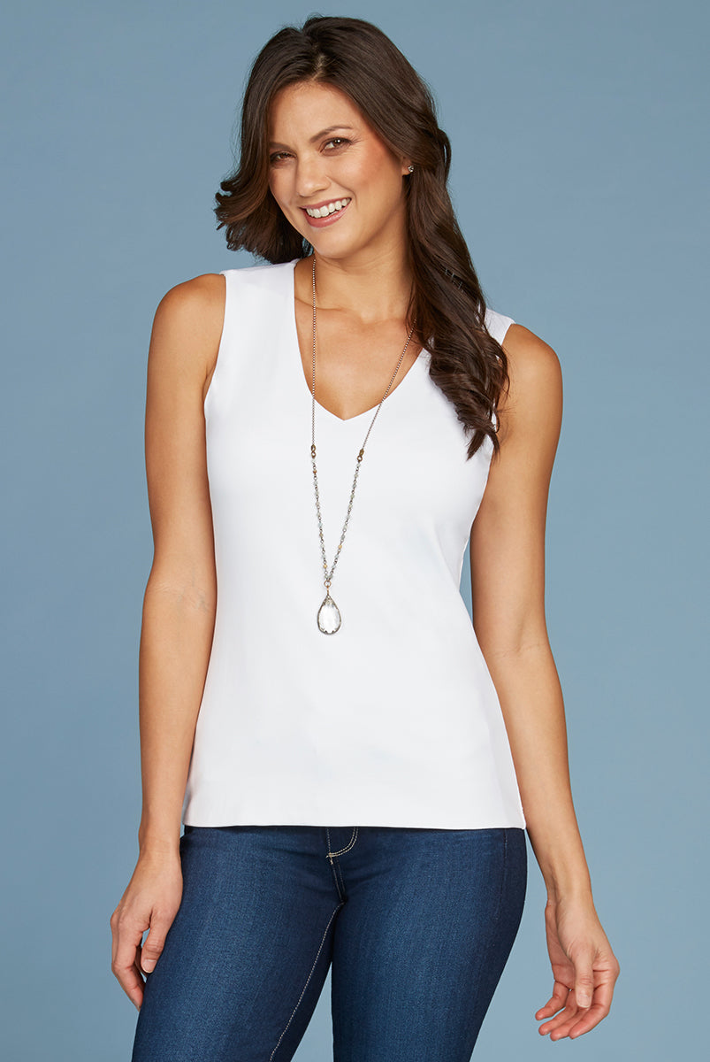 Sleeveless Vneck Top