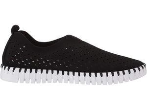 Ilse Jacobsen Tulip Perforated Slip-On Sneaker Black