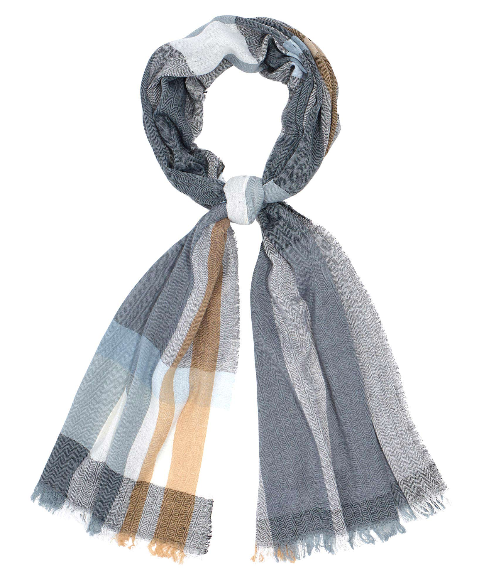 Oversize Plaid Oblong Scarf