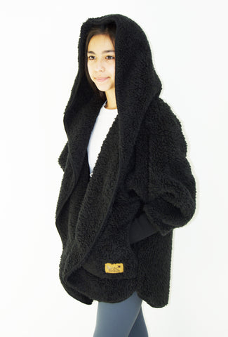 Hooded Plush Wrap PETITE