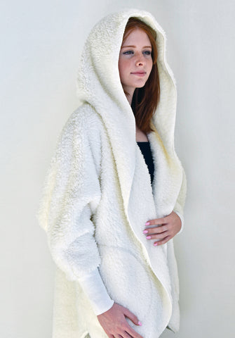 Hooded Plush Wrap