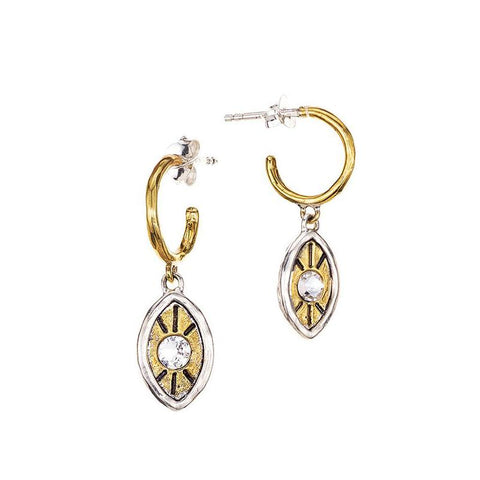 Illuminatures Evil Eye Huggie Hoop Earrings