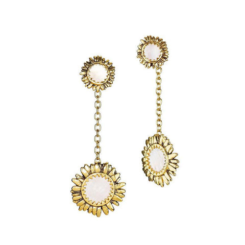 Moon Daisy Large Drop Earrings