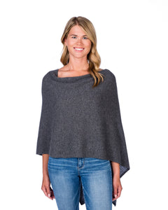 Alashan Cashmere Dress Topper Poncho Graphite