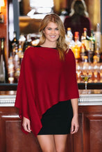 Load image into Gallery viewer, Alashan Cashmere Dress Topper Poncho Black