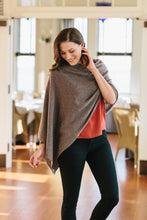 Load image into Gallery viewer, Alashan Cashmere Dress Topper Poncho Graphite