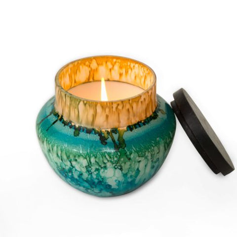 16 Oz. Hidden Cove Watercolor Glass Candle