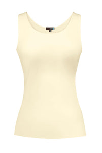 Judy P Sleeveless Scoopneck Tank Top Pearl