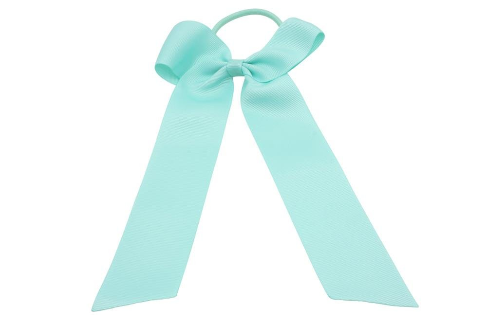Haarstrik met elastiek mint blue