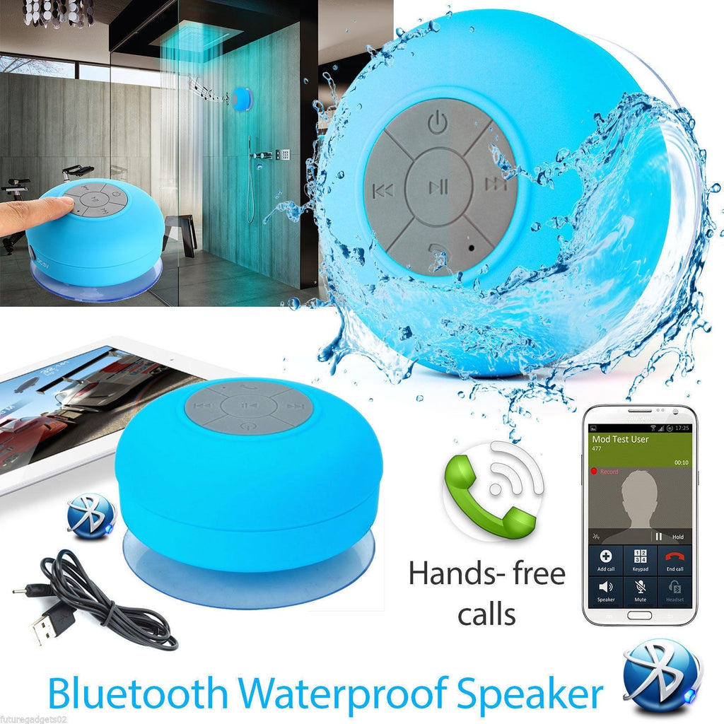 Mini Waterproof Wireless Bluetooth Handsfree Mic Suction Shower Speaker Car Bluetooth Speaker