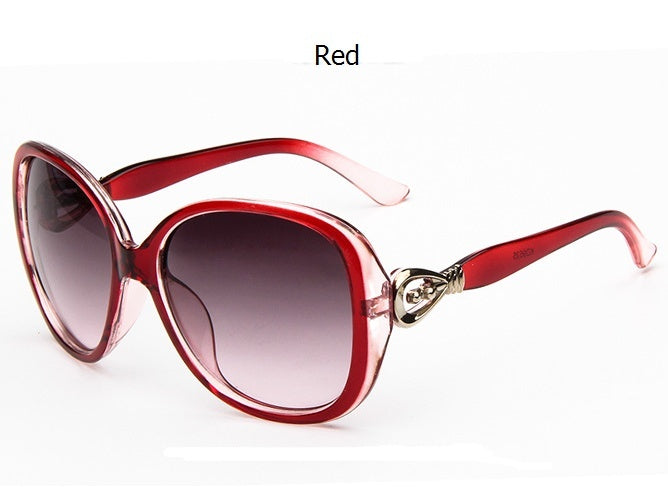 Fashion Big Frame Retro Anti-UV Women's Sunglasses