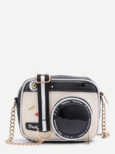 Camera Shaped Crossbody Bag With Buckle