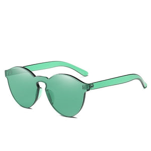 Women's Fashion Uv400 Sunglasses Luxury Eyewear Sun Shades Integrated Pc Colorful Sun Glasses