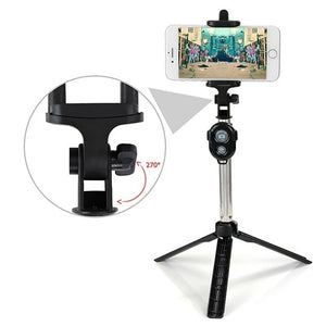Portable Bluetooth Shutter Selfie Stick Tripod Monopod Remote Control Stand Holder