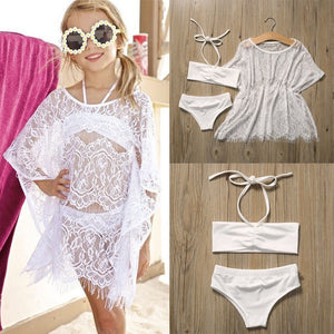 Fashion Kids Tops Baby Girls Tankini Swimsuit Bikini Swimming Oufits Cute Girl Beachwear 1-6Y