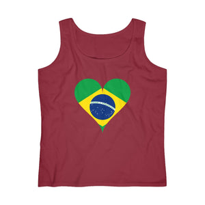 I Heart Brazil - Women's Lightweight Tank Top