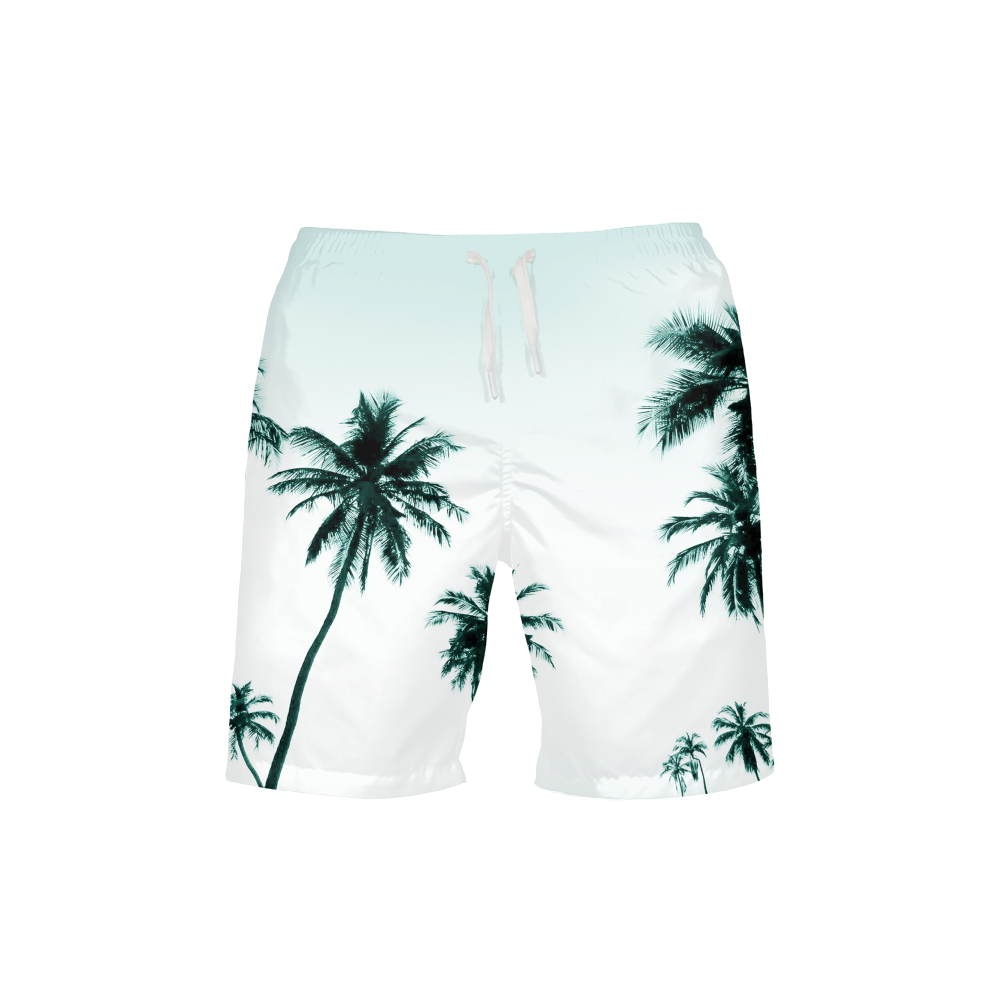 Chill Bro - Men's Palm Tree Beach/Swim Shorts