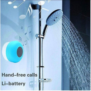 Go Play! - Portable Waterproof Wireless Mini Bluetooth Speakers Shower Handsfree Call Music Suction Mic for iPhone Cellphone Smartphone