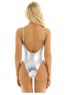 Hard Metal - Holographic Once Piece Mermaid Swimsuit