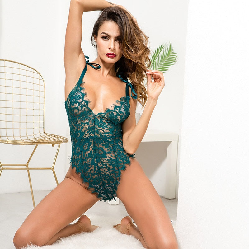 Girl Next Door - COCKCON 2019 4 Colors Women Sexy Lingerie Nightwear Underwear Lace G String Sling Sleepwear Teddies Bodysuits