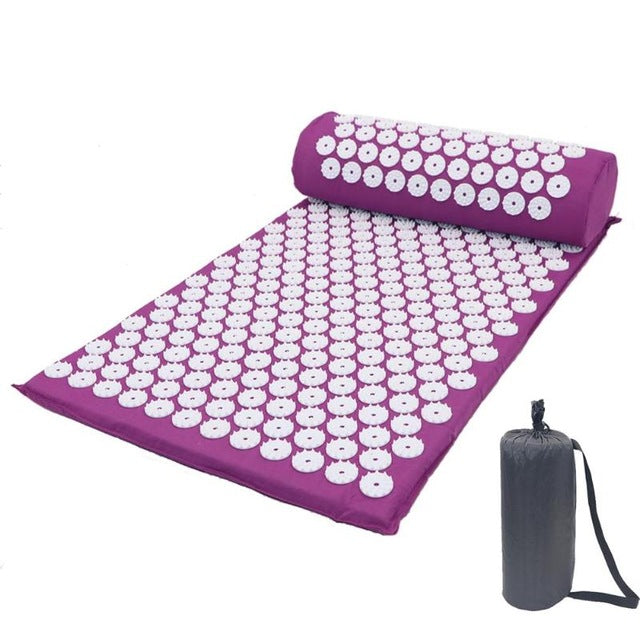 Acupressure Massager Mat Relaxation Relief Stress Tension Body Yoga Mat Spike Relieve Stress Pain Cushion Set